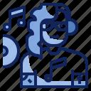 artist, avatar, character, disc, dj, job, jokey icon