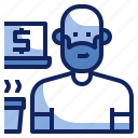 avatar, freelance, freelancer, men, occupation, person, profession icon