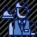 avatar, front desk, occupation, person, profession, receptionist, uniform icon