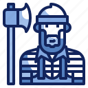 avatar, carpenter, character, job, lumberjack, man, profession icon