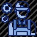 avatar, character, job, man, mechanic, technician, uniform icon