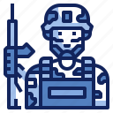 army, avatar, character, job, military, soldier, uniform icon