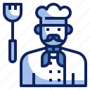 avatar, character, chef, cook, job, male, uniform icon