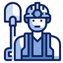 avatar, character, employee, job, labor, work, worker icon