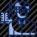 avatar, human, journalist, occupation, profession, writer icon