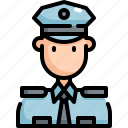 avatar, cop, man, police, profession, security, user icon