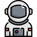 astronaut, avatar, man, profession, space, spaceman, user icon
