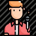 avatar, man, music, profession, sing, singer, user icon