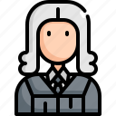 avatar, judge, justice, law, man, profession, user icon