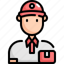 avatar, delivery, man, profession, shipping, user icon