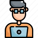 avatar, code, developer, man, profession, programmer, user icon