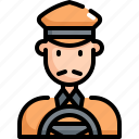 avatar, cab, driver, profession, taxi, transport, user icon
