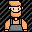 avatar, barista, cafe, coffee, man, profession, user icon