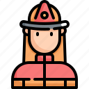 avatar, firefighter, fireman, man, profession, rescue, user icon