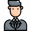 avatar, business, businessman, man, manager, profession, user icon