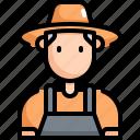 avatar, farmer, gardener, gardening, man, profession, user icon