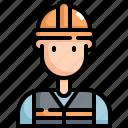 architecture, avatar, construction, engineer, man, profession, user icon