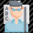 avatar, education, man, profession, teacher, teaching, user icon