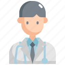 avatar, doctor, healthcare, man, medical, profession, user icon