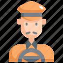 avatar, cab, driver, man, profession, taxi, user icon