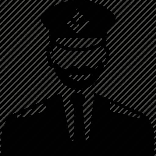 avatar, captain, man, profile, user icon