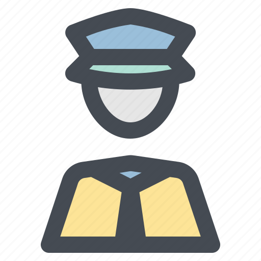 job, occupancy, police, profession, security, work, worker icon