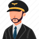 avatar, character, male, man, men, pilot, professions icon