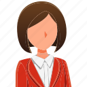 avatar, character, professions, profile, secretary, woman, women icon