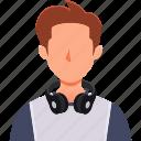 avatar, man, professions, profile, transcriber icon