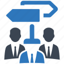 decision, group, people, team, teamwork icon