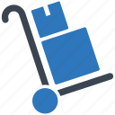 delivery, package, shipping, transport, transportation, trolley icon