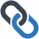 chain, hyperlink, link, network, web link icon