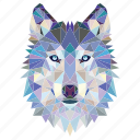 animal, fox, fox face, linear, linear animal, wolf, wolf face icon