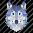 animal, fox, fox face, linear, linear animal, wolf, wolf face icon