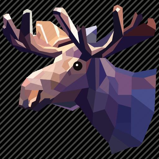 animal, deer, deer horn, horn, linear, linear animal, linear deer icon