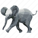 animal, elefante, elephant, linear, linear animal, zoo icon