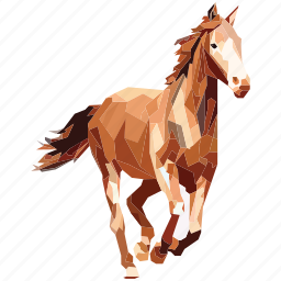 animal, caballo, horse, linear, linear animal icon