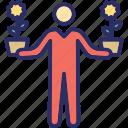 gardener, greenkeeper, grower, man, nurseryman