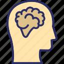 brilliant, genius, mastermind, mind process, philosopher, thinker icon