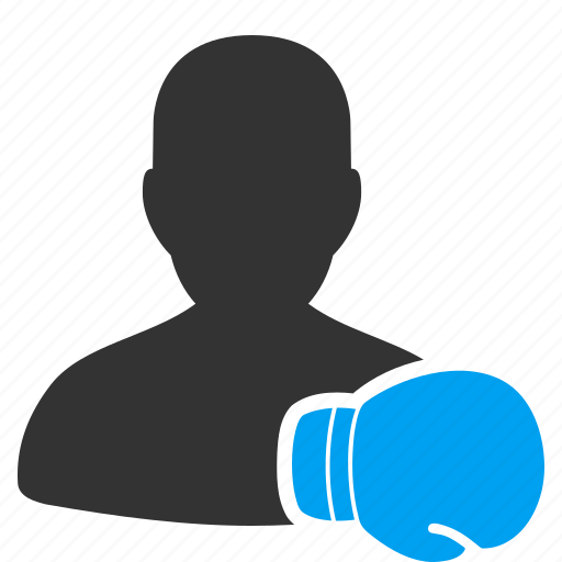 boxer, boxing, fighter, glove, gym, sport, train icon