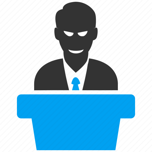 government, leader, manager, presentation, speaker, speech, teacher icon