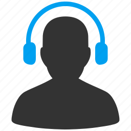 call center, contact, headphones, hotline, operator, speaker, support icon