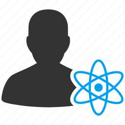 atom, atomic, nuclear, nucleus, physics, radiation, scientific icon
