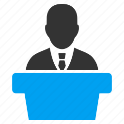 politician, politics, presentation, public, speaker, speech, teacher icon