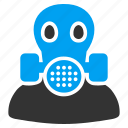filter, gas mask, maintenance, mask, radiation, safety, toxic icon