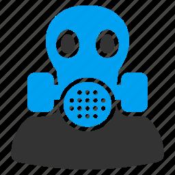 filter, gas mask, maintenance, mask, radiation, safety, toxic icon