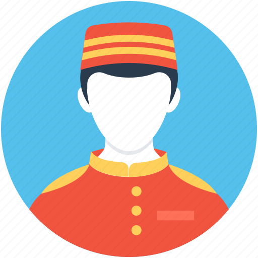 bellboy, bellhop, chef, cook, hotel staff icon