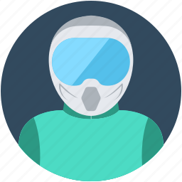 motorcyclist, occupation, people, racer, scooter driver icon