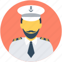 avatar, boat captain, boat pilot, captain, occupation icon