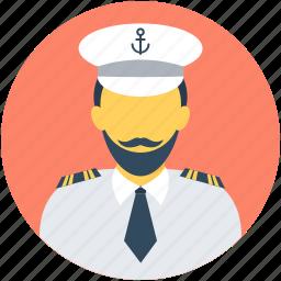 avatar, boat captain, boat pilot, captain, occupation icon